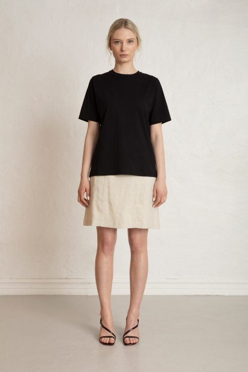 Obi Org Cotton Tee in Black