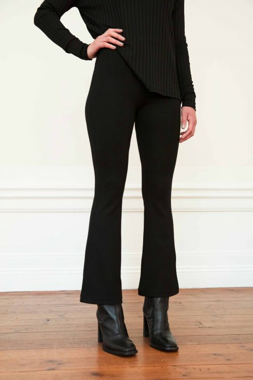 Lana ecovero flare pant in color black