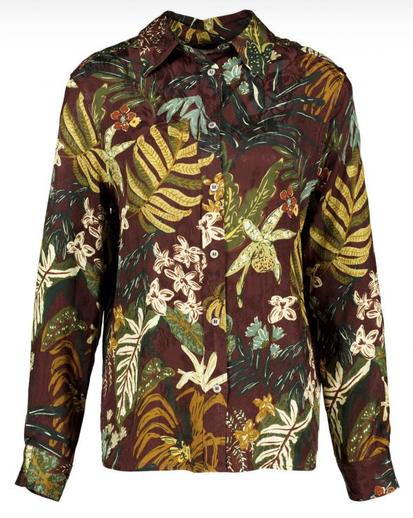 Winona cinnamon silky pyjama shirt
