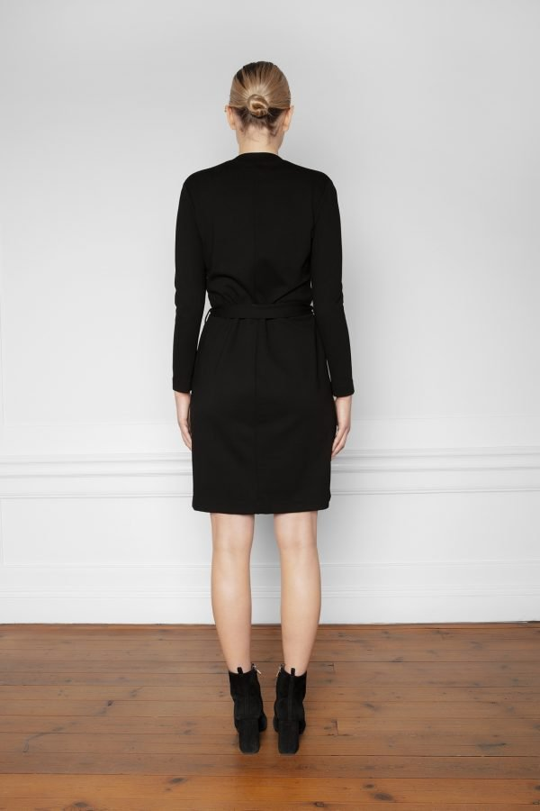 Lear Ecovero Dress Black from the back