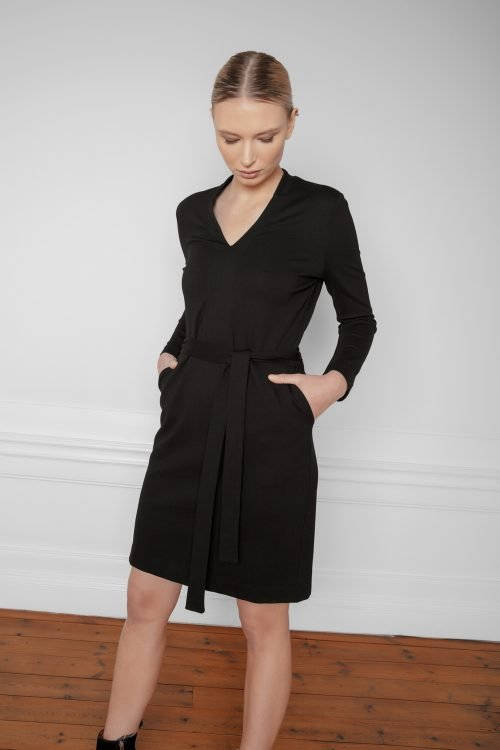 Lear Ecovero Dress Black with pockets