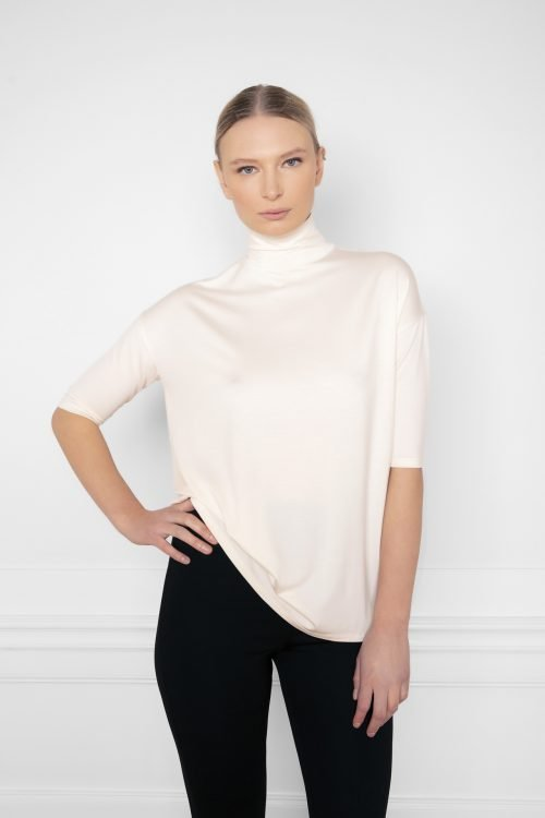 Tomasine Tencel Turtleneck in color Shell