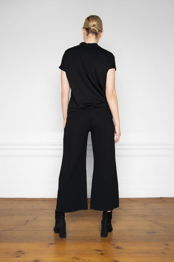 Lottie Ecovero Pants Black and Luca Tencel Top Black from the back